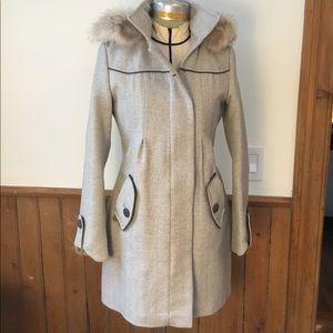 Soia & Kyo light gray wool duffle coat, size S